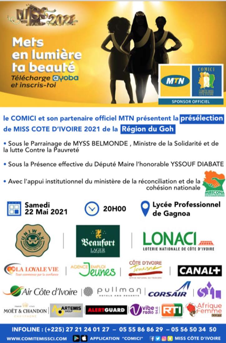 Présélections Miss CI 2021 de la Région du Goh