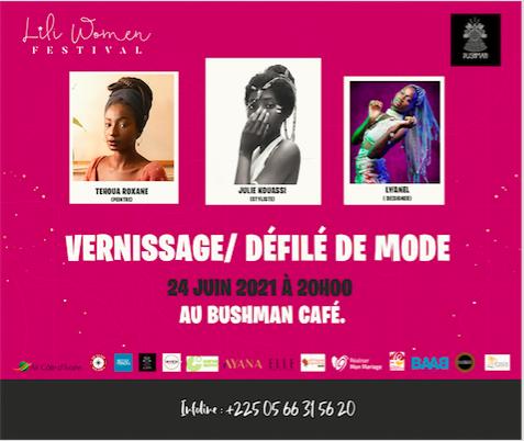 Lili Woman Festival, Vernissage/defilé de mode