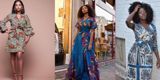 10 idées de robes portefeuille en pagne