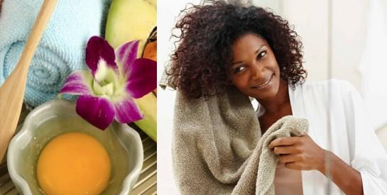 2 recettes d`après-shampoings à base d`oeuf pour des cheveux sains
