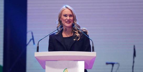 Marlène Harnois, championne olympique : `` Le sport a le pouvoir de changer le monde, d'inspirer la jeunesse et d'unir les populations``