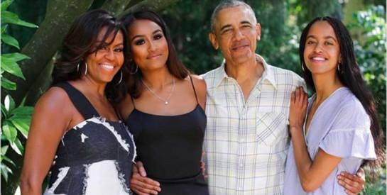 ``Tu deviens une femme`` : le discours de Michelle à ses filles Malia et Sasha sur le body positive