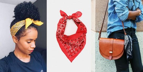 Le bandana: 3 manières pour bien porter cet accessoire avec style